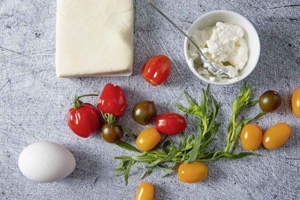 Zutaten für Crostata mit Estragon-Ricotta