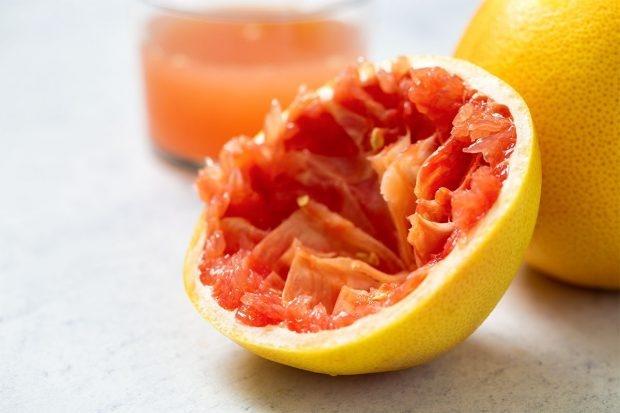 Ausgepresste Grapefruit