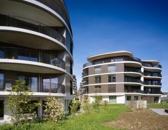 So sieht der Wohntraum vieler Menschen aus: Neubau Aublickweg. (Bild: Allreal)