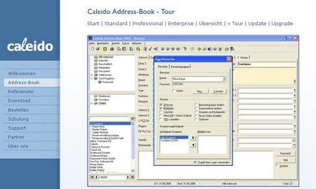 ...Caleido, eine Adresssoftware, heute noch verfügbar.