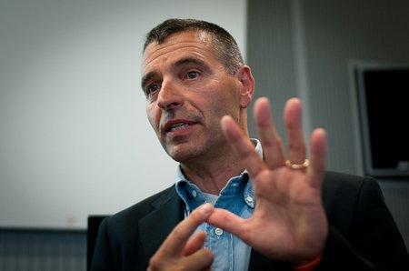 Fabio Cavalli, CEO von Mondobiotech, am Venture-Apéro in St. Gallen (© PS)