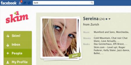 Ein Blick auf die Facebook-App Skim