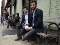 Die Jungunternehmer David Becker und Daniel Dessauges in New York.