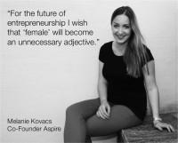 Melanie Kovacs, Mitgründerin von Aspire