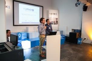 rqmicro sind mehrfache venture leaders Teilnehmer und haben das Pitchen im Griff. Bild: Mirjam Sonner.
