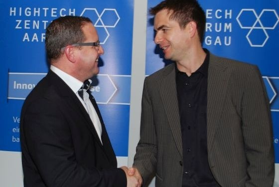 Philippe Ramseier (links) und Bernhard Isenschmid bleiben im Gespräch.