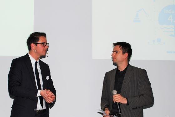 Ein Blick nach Deutschland mit Moritz Hämmerle (links): Neuste Erkenntnisse aus dem Fraunhofer-Institut in Stuttgart.